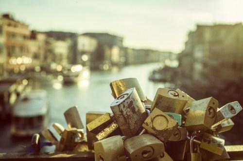 Locked love in Venice